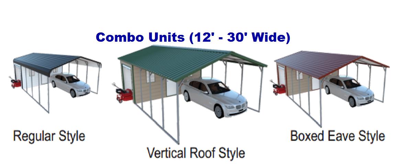 Custom Metal Carport Shed Combo Carport Shed Combo