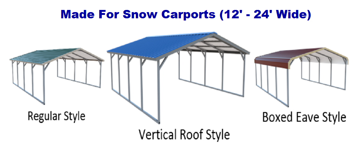 12 24 Wide Snow Load Metal Carports Snow Load Carports